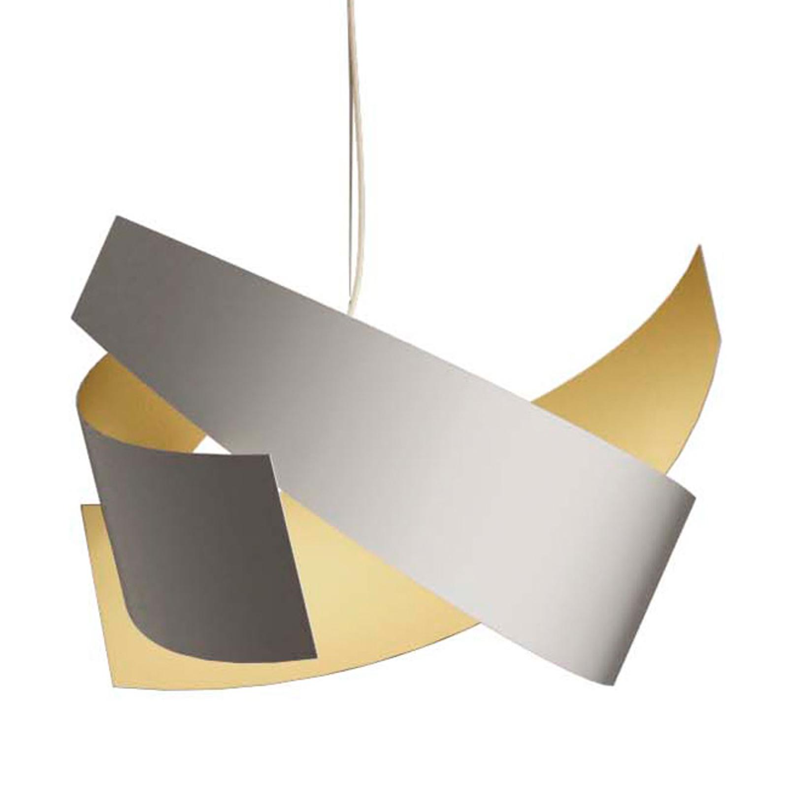 Wysokiej jakości biało-złota lampa wisząca Ella