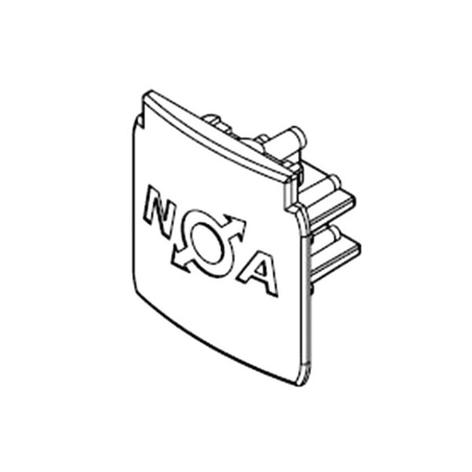 Endkappe für 3-Phasen-Stromschiene Noa