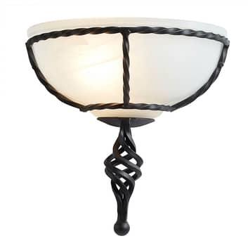 Pembroke væglampe, sort stel