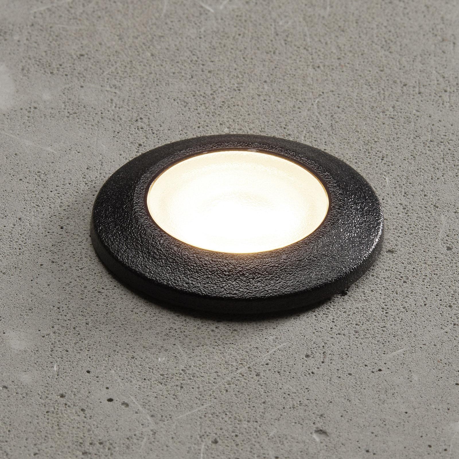 LED-innfellingslampe Aldo rund svart/klar 3000K