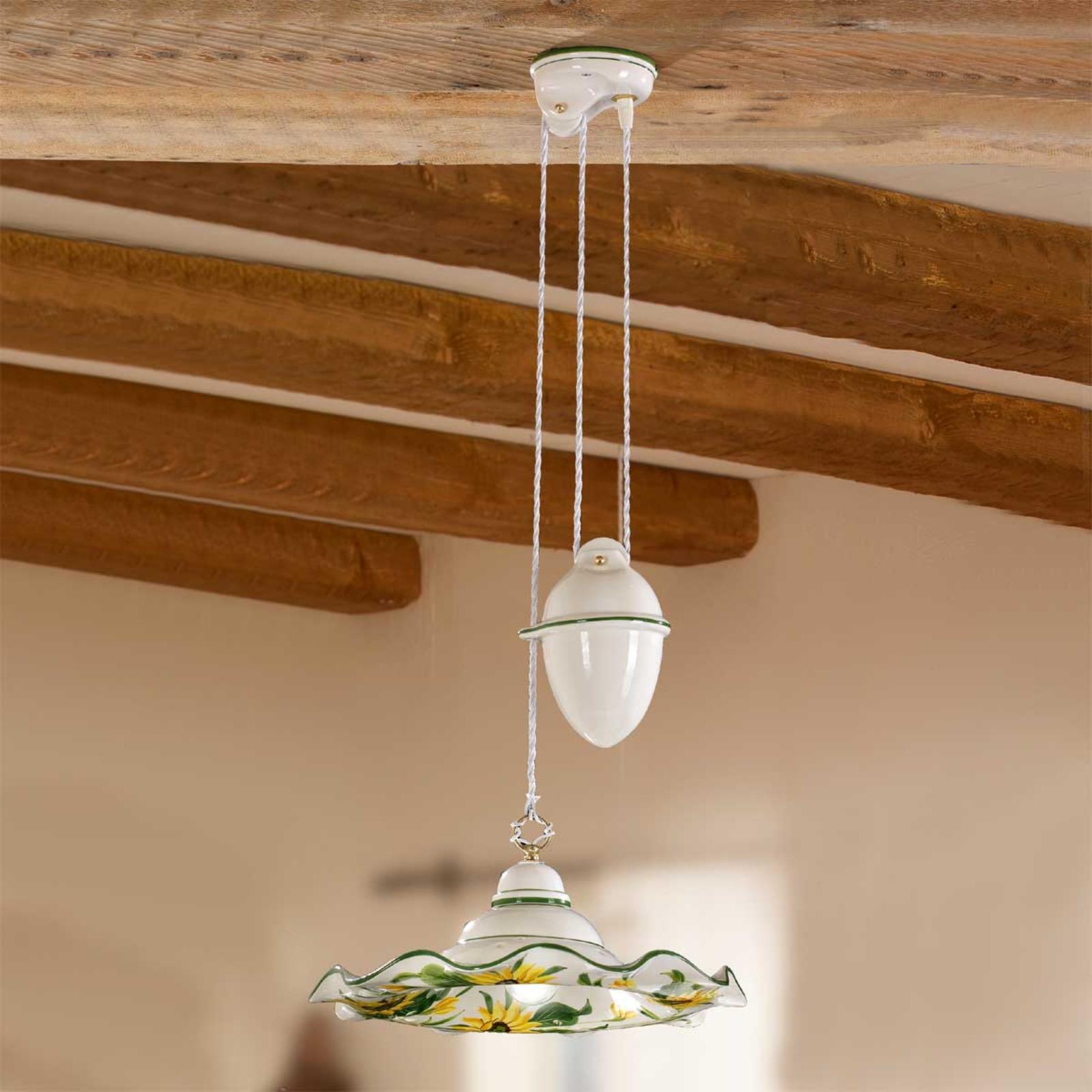 Lámpara colgante pendular GIRASOLA altura variable