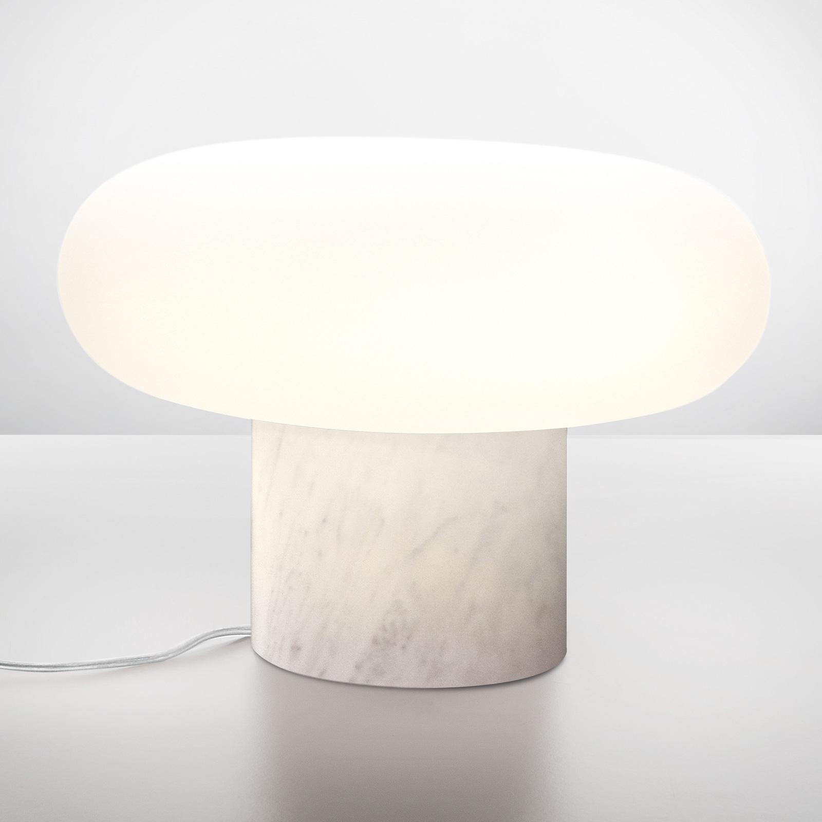 Artemide Itka lampa stołowa LED marmurowa stopa