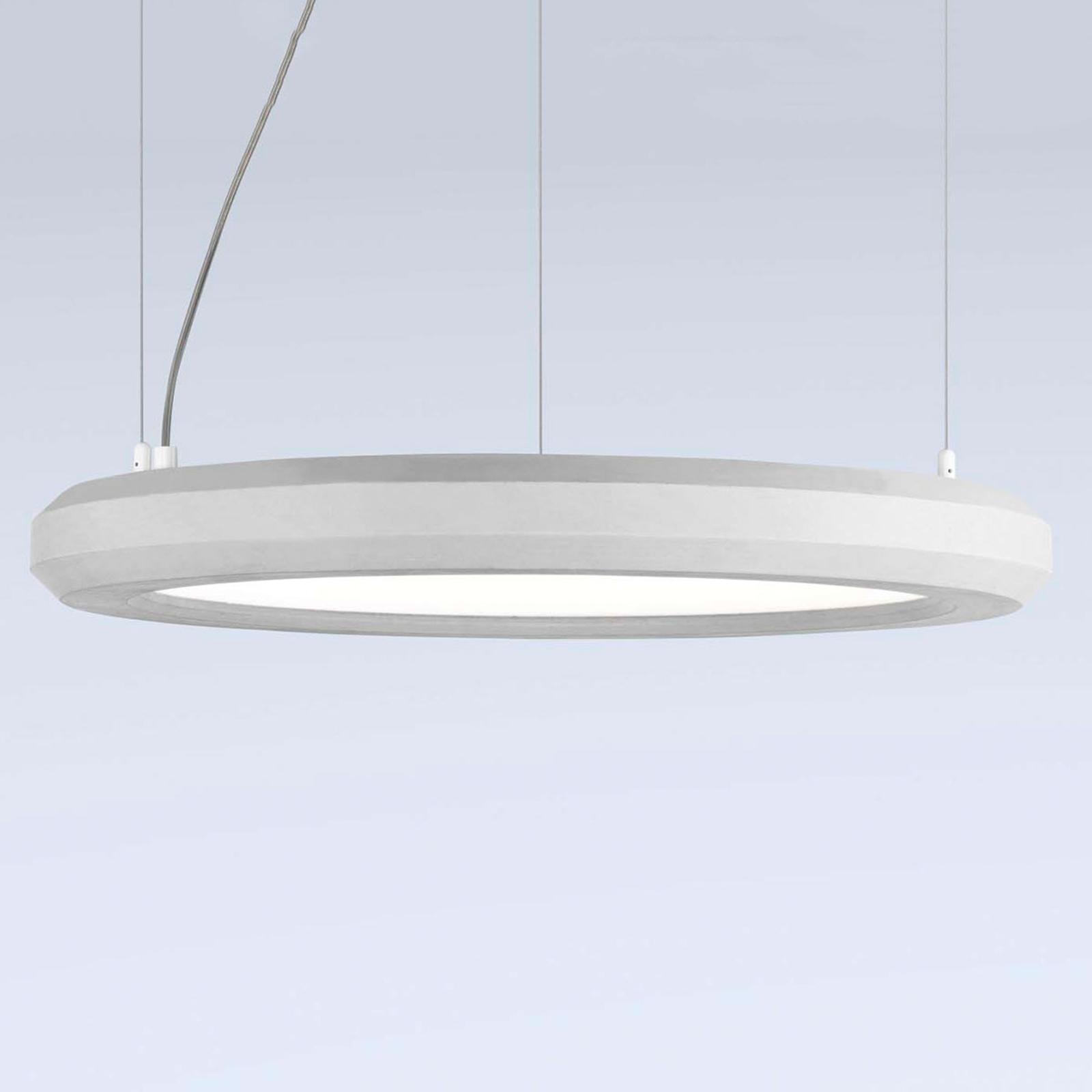 LED hanglamp Materica binnen Ø 60 cm wit