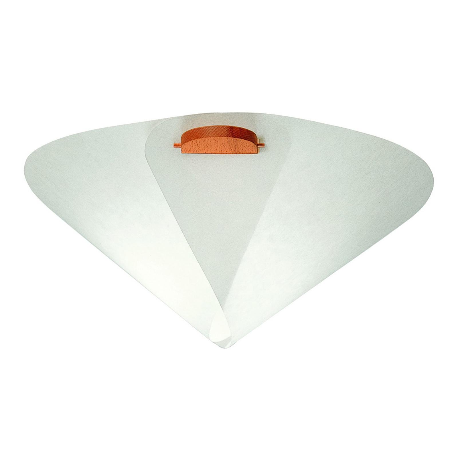 Kägelformad designertaklampa IRIS