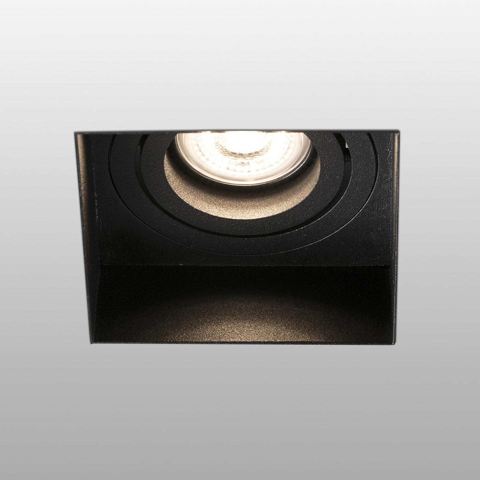 Inbouwspot Hyde 1-lamp hoekig gezwenkt zwart
