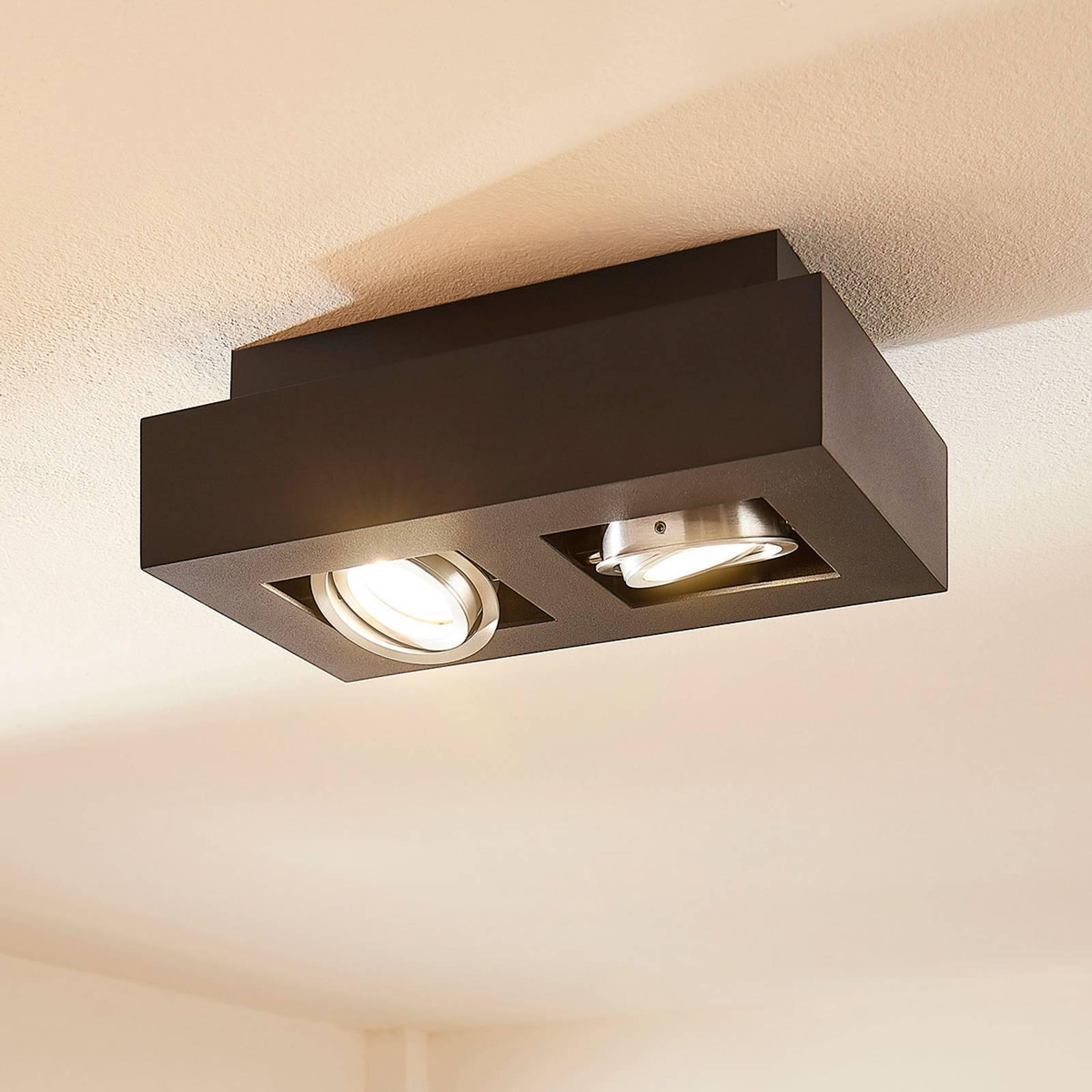 LED-Deckenleuchte Vince, 25x14cm in Schwarz