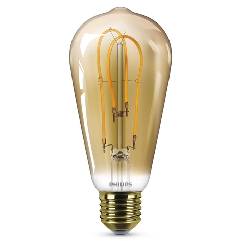 Philips E27 ST64 ampoule LED Curved 4 W 2 500 K or