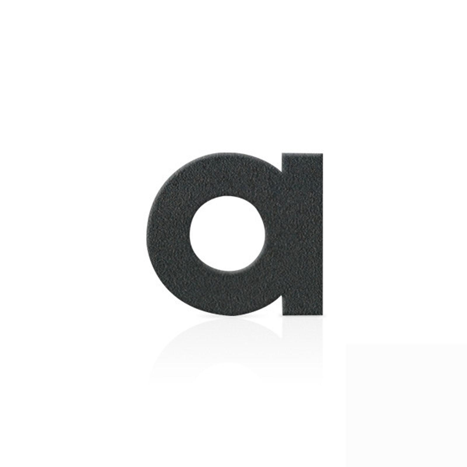 Nerezová domovní čísla písmeno a, grafit šedý