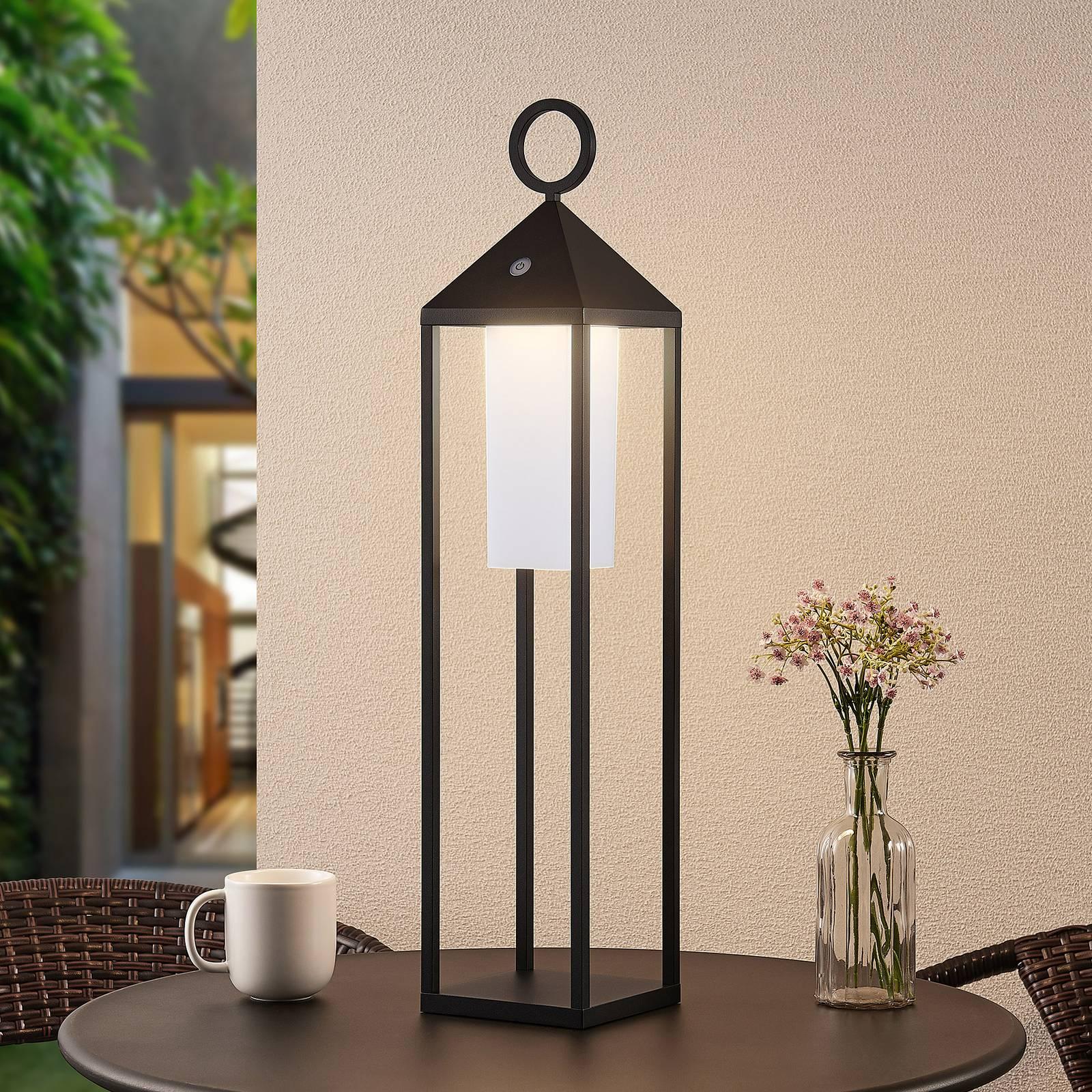 Lucande Miluma LED buitenlantaarn, 64 cm, zwart