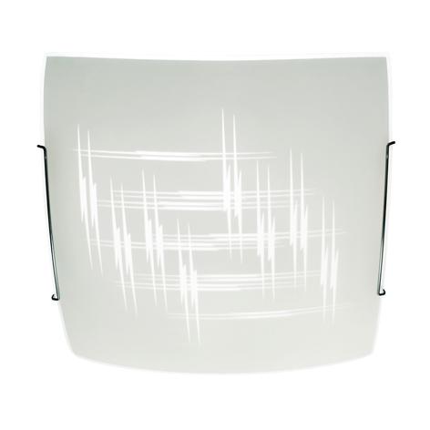 Plafondlamp Scratch van glas, vierkant