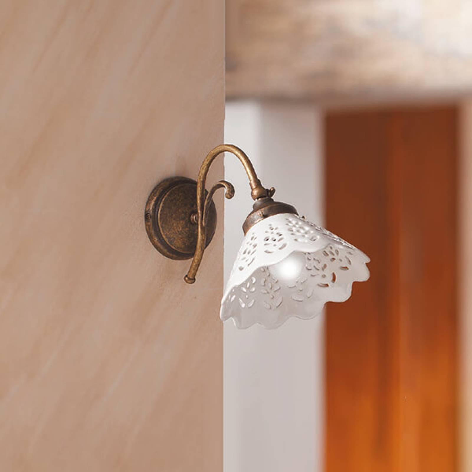 Wandlamp Semino met keramiek lampenkap