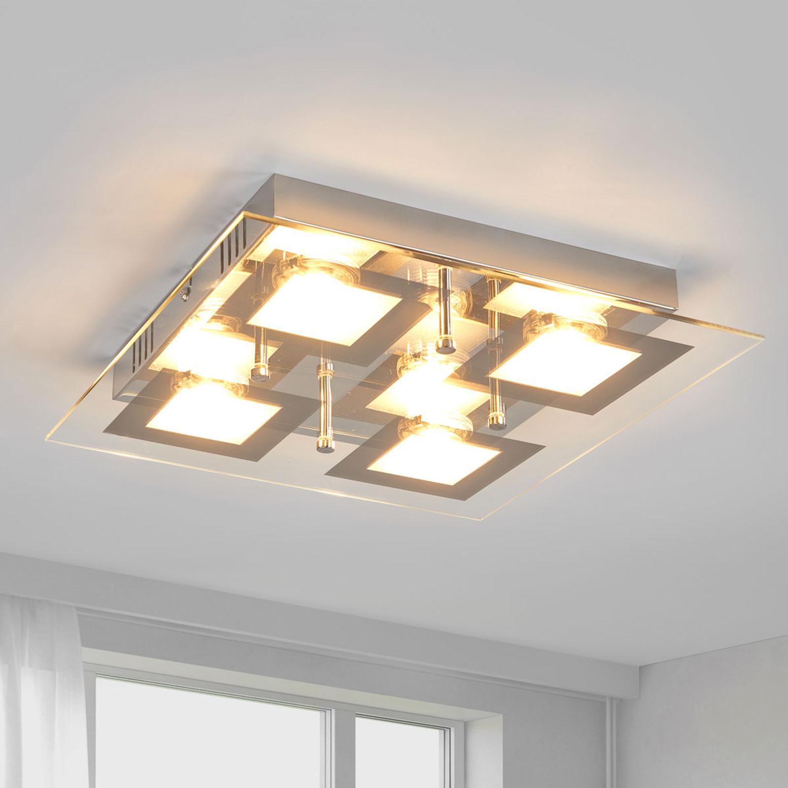 Firkantet LED-kjøkkenlampe Manja