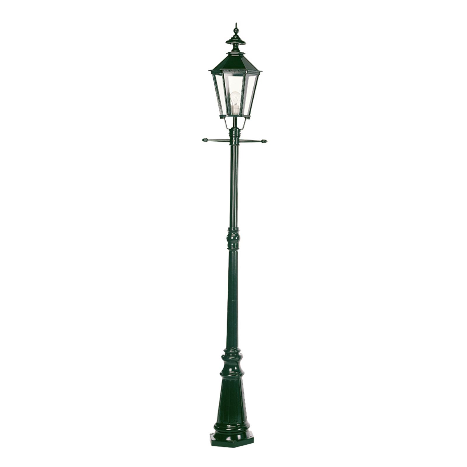 Flott Manchester lyktestolpe i grønt med ett lys