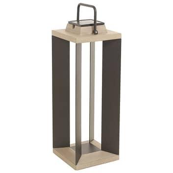 Lanterne solaire Teckalu, Duratek/alu noir