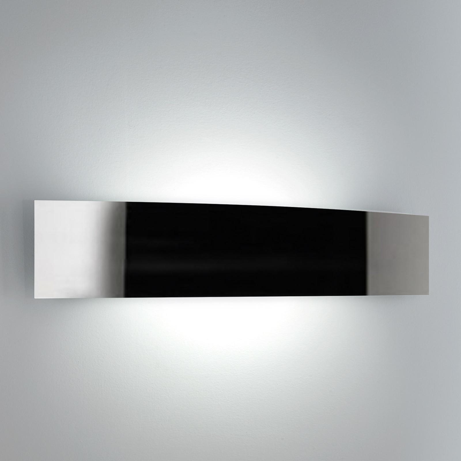 Lampa ścienna RIGA szerokość 36 cm stal szlachetna