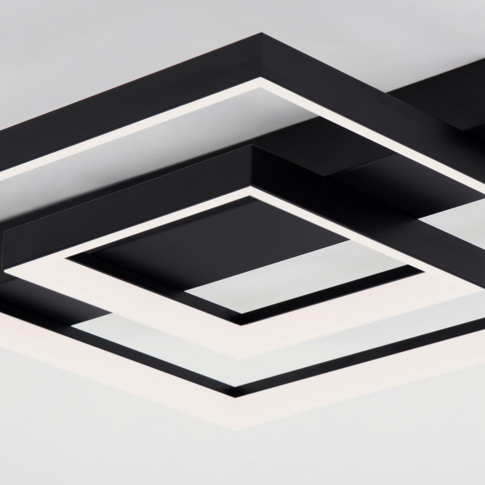 LED plafondlamp 3027, hoekig, zwart, 2 profielen