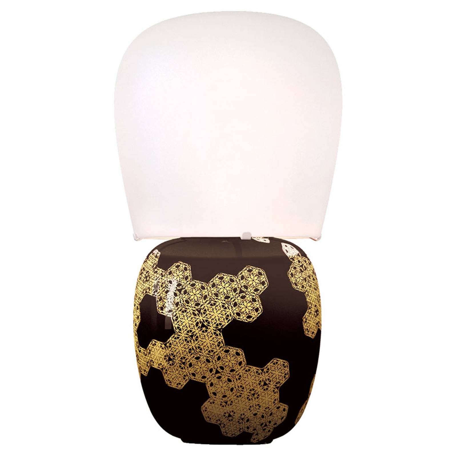 Kundalini Hive - keramische tafellamp, zwart
