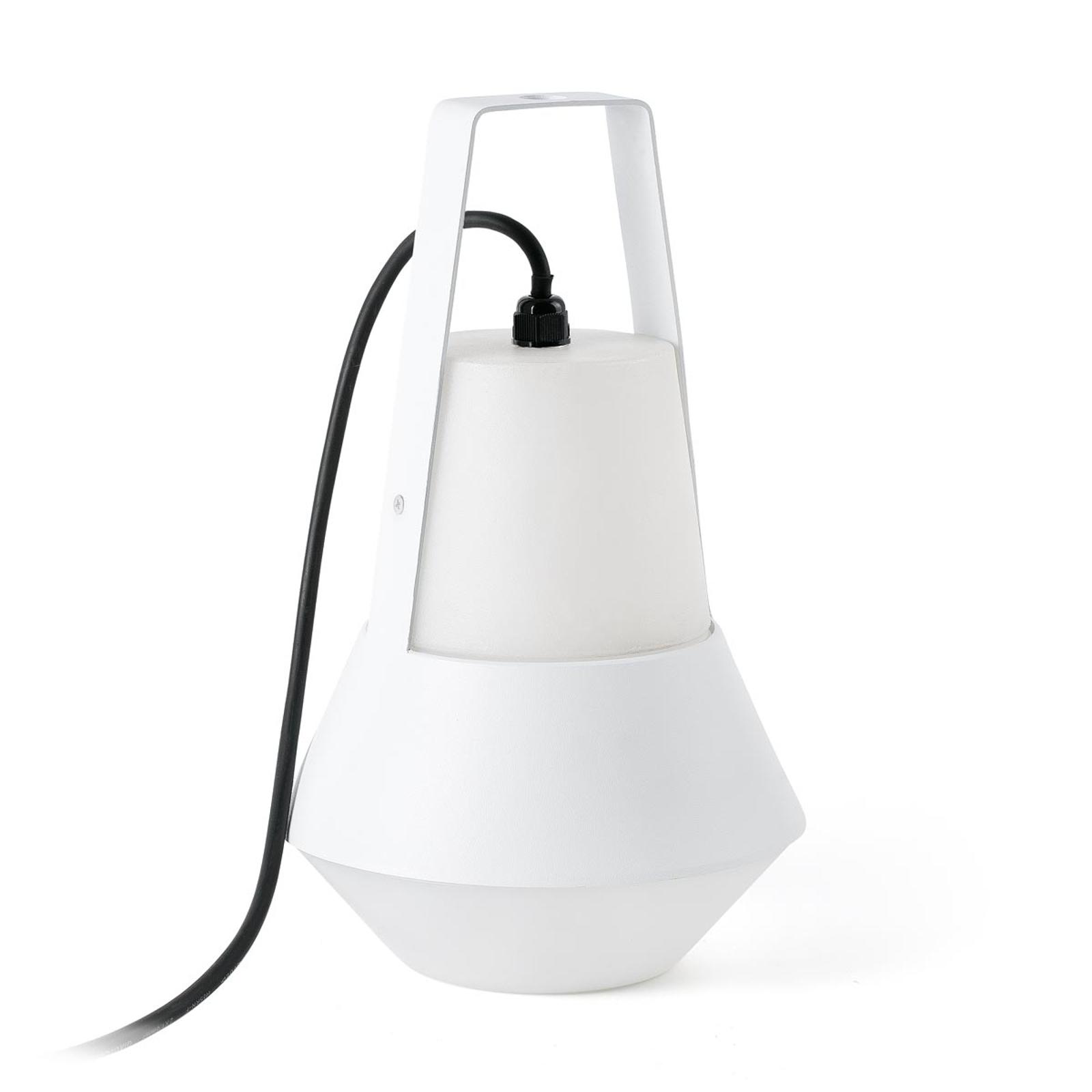 Cat - mobil utomhuslampa i vitt