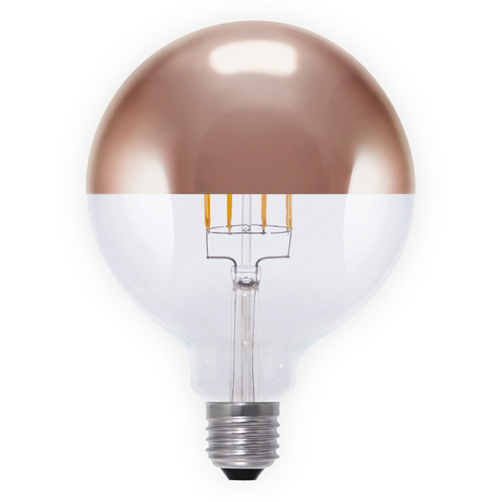 E27 8 W 926 toppforspeilet LED-globe G125 kobber