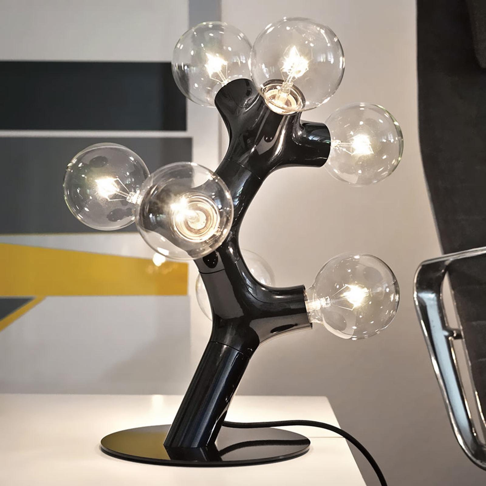 next DNA Table - Designer-Tischleuchte, schwarz