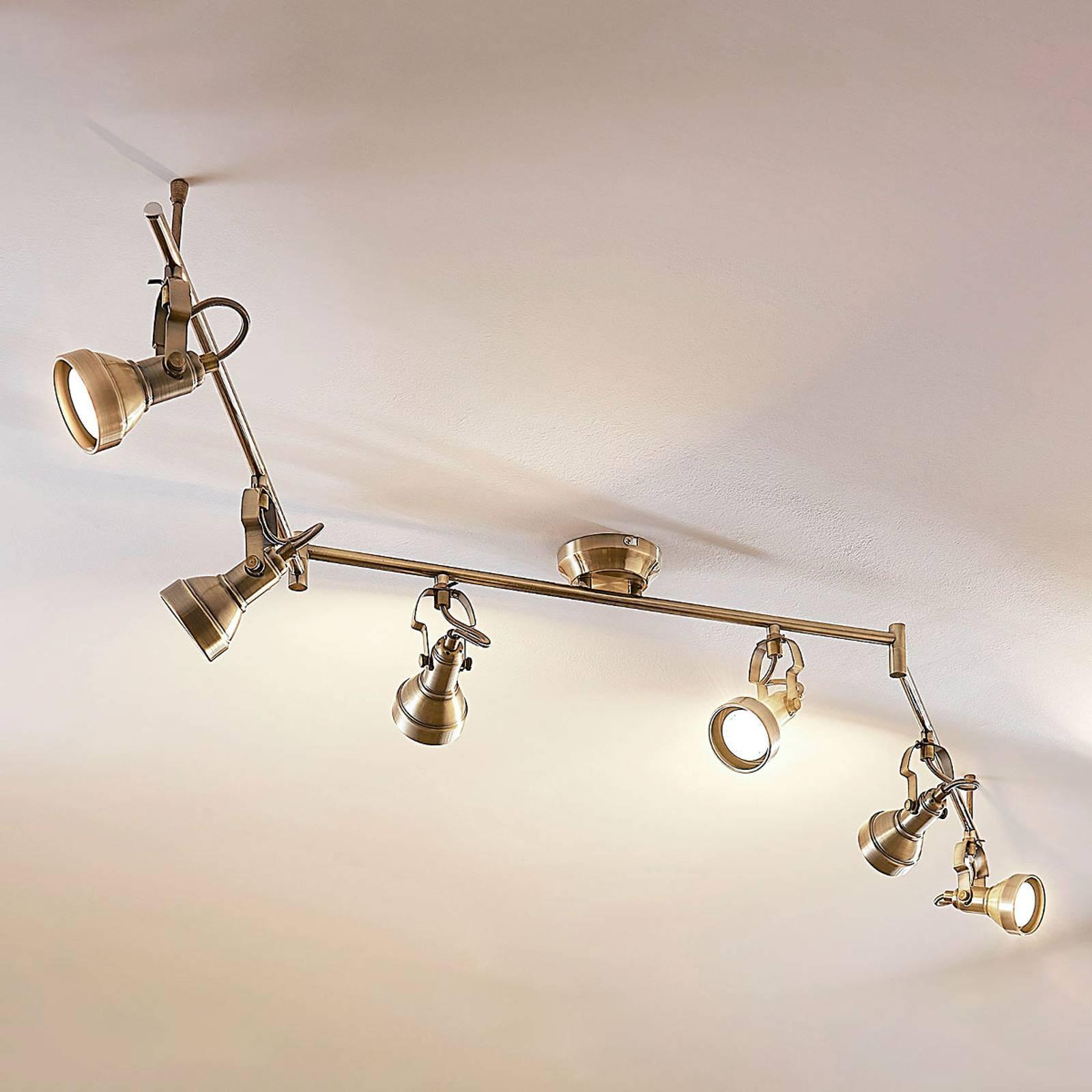 Zeslichts LED-plafondlamp Perseas, GU10 LED