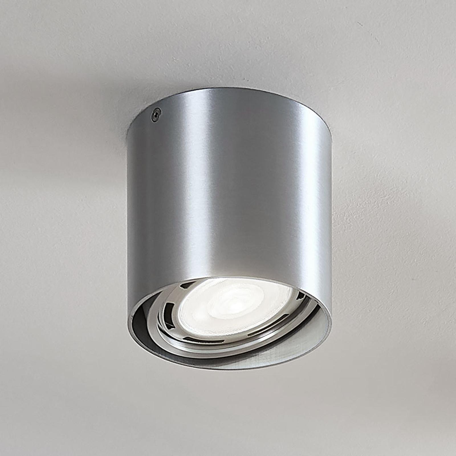 LED downlight Rosalie, dimbaar 1-lamp, rond, alu