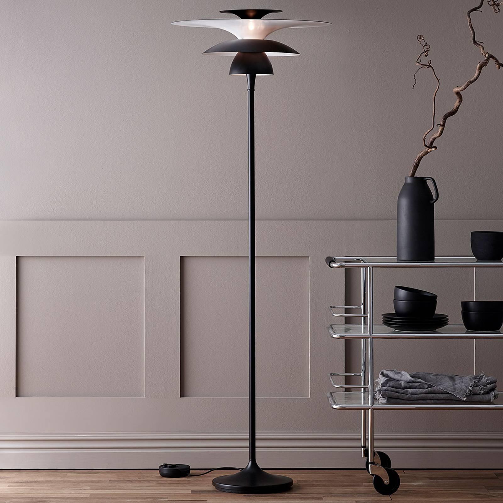 Lampa stojąca LED Picasso, klosz 38 cm, czarna
