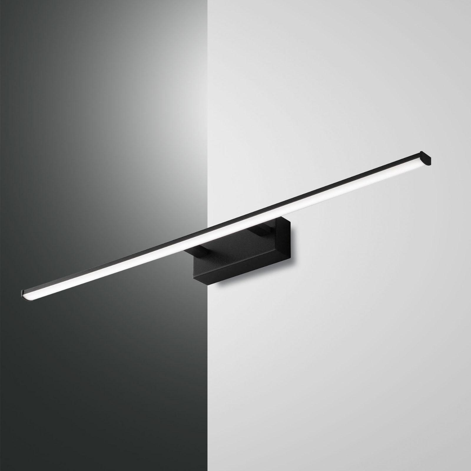 Applique LED Nala, noire, largeur 75cm