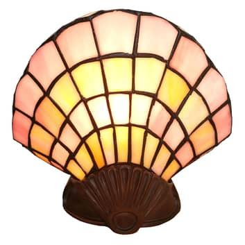 Lampada da tavolo 6000, conchiglia vetro, Tiffany
