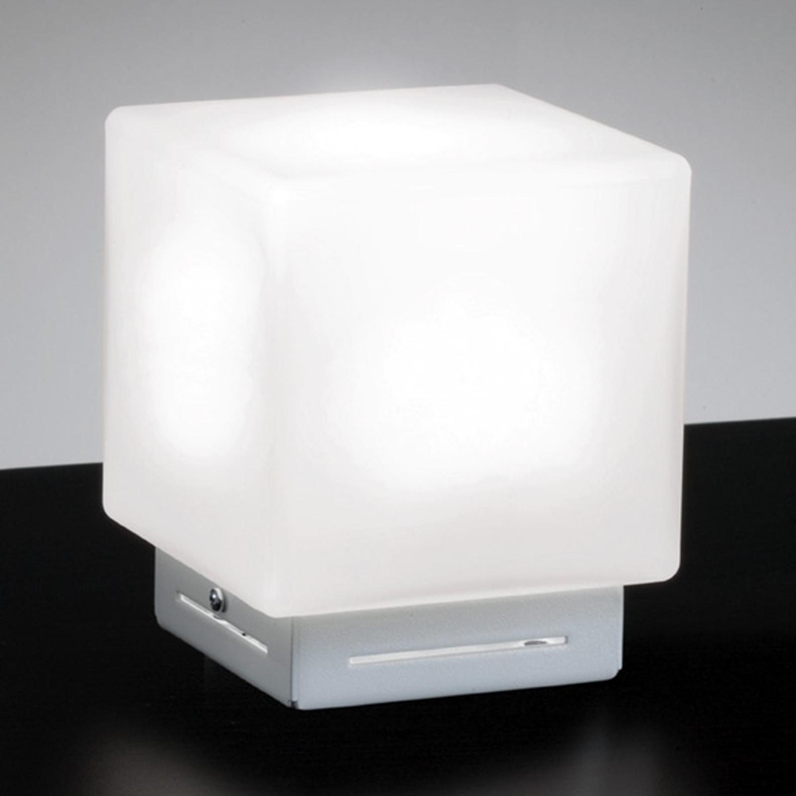 Cubis-pöytävalaisin, valkoinen