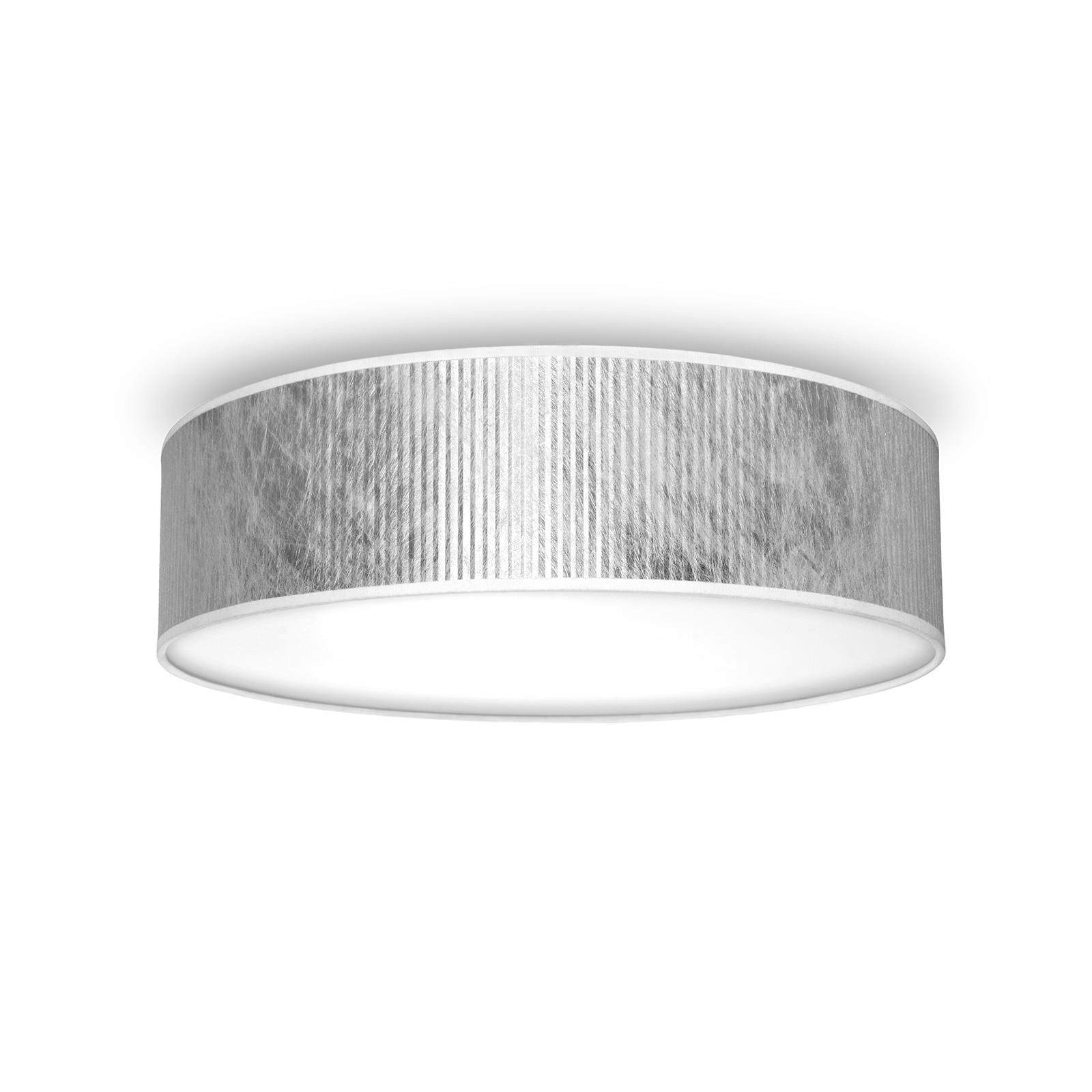 Tres Plisados L taklampe, Ø 40 cm, sølv