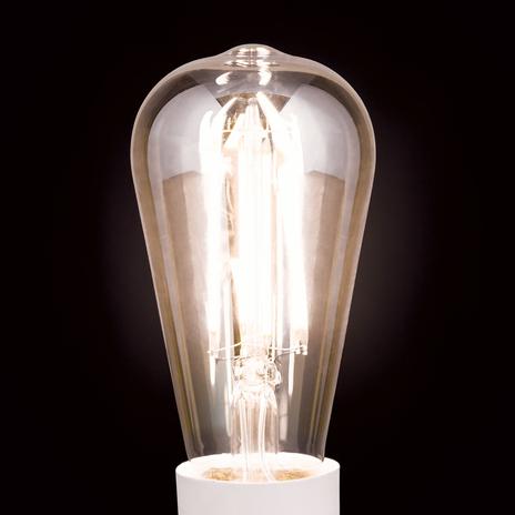 Żarówka rustykalna LED E27 7W, ciepła biel