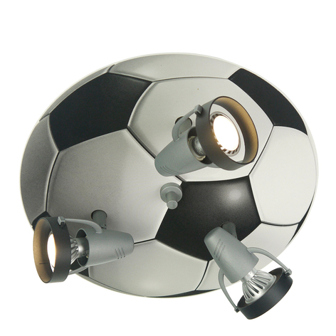 Lámpara de techo Pelota de fútbol