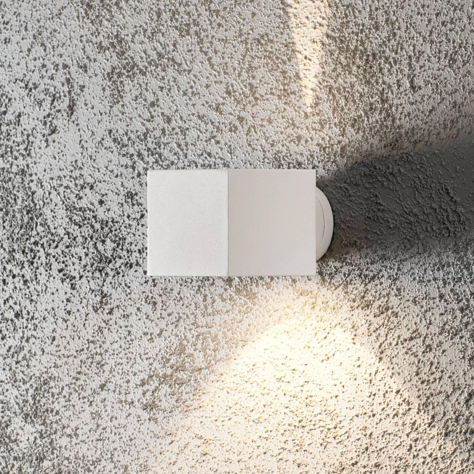 Buitenwandlamp Modena Square, hoekig, wit