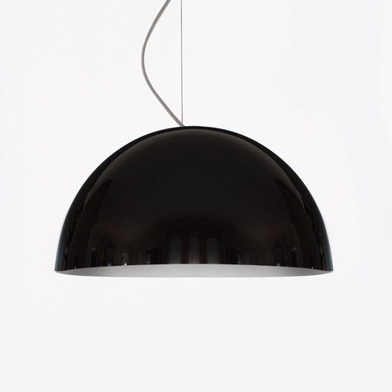 Oluce Sonora - schwarze Hängeleuchte, 38 cm