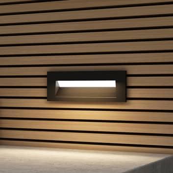 Arcchio Javis LED-Einbaulampe, geriffelt, schwarz