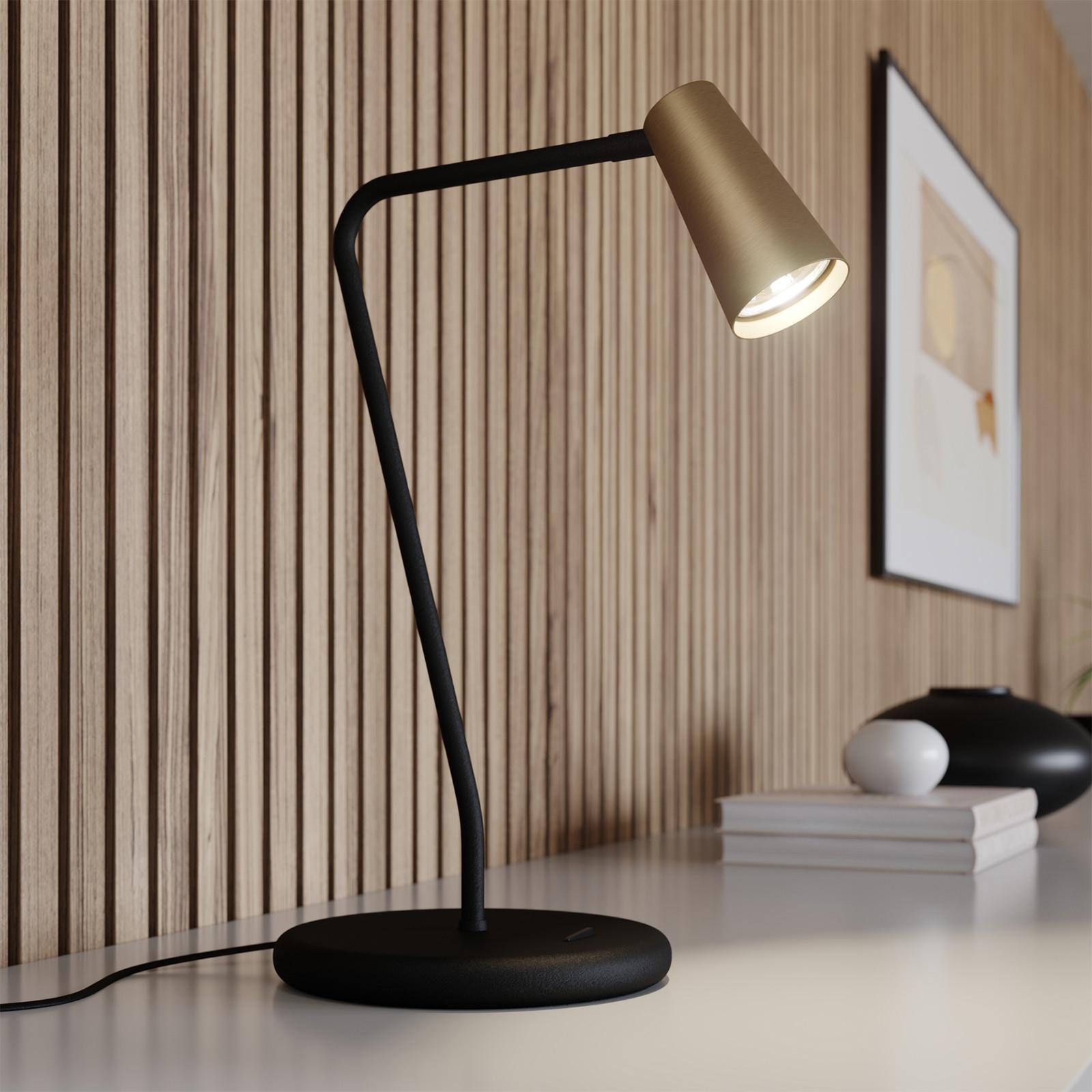 Lucande Angelina tafellamp, messing-goud