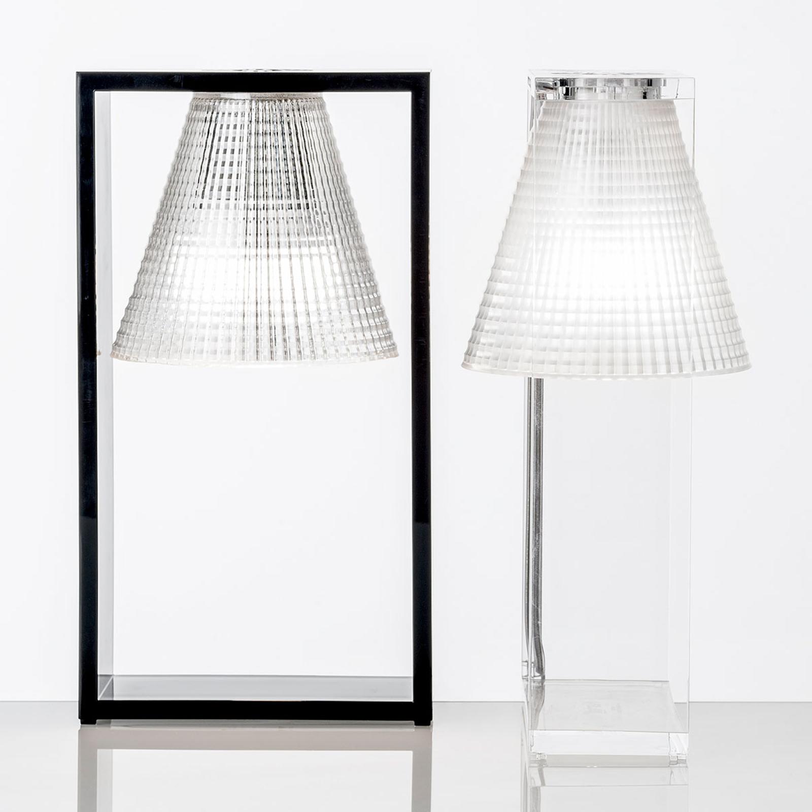 Lampa stołowa LED Light-Air, czarno-przezroczysta