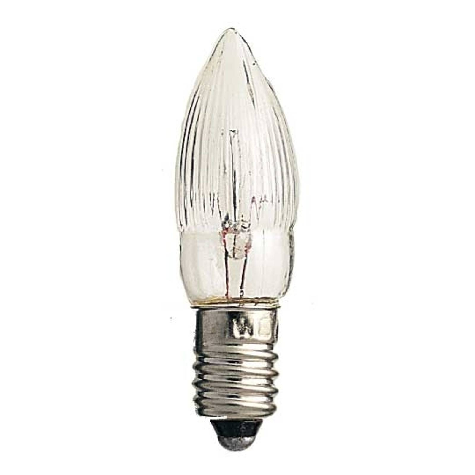 Image of Pack de 3 lampes E10 2,5W 7V bougies 07318301048038