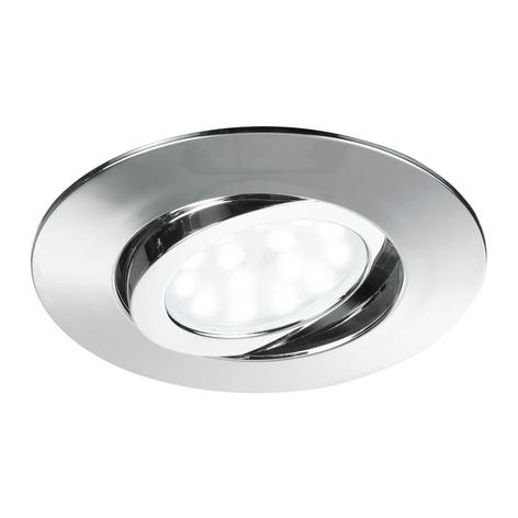 Spot encastrable LED pivotant Zenit, chromé