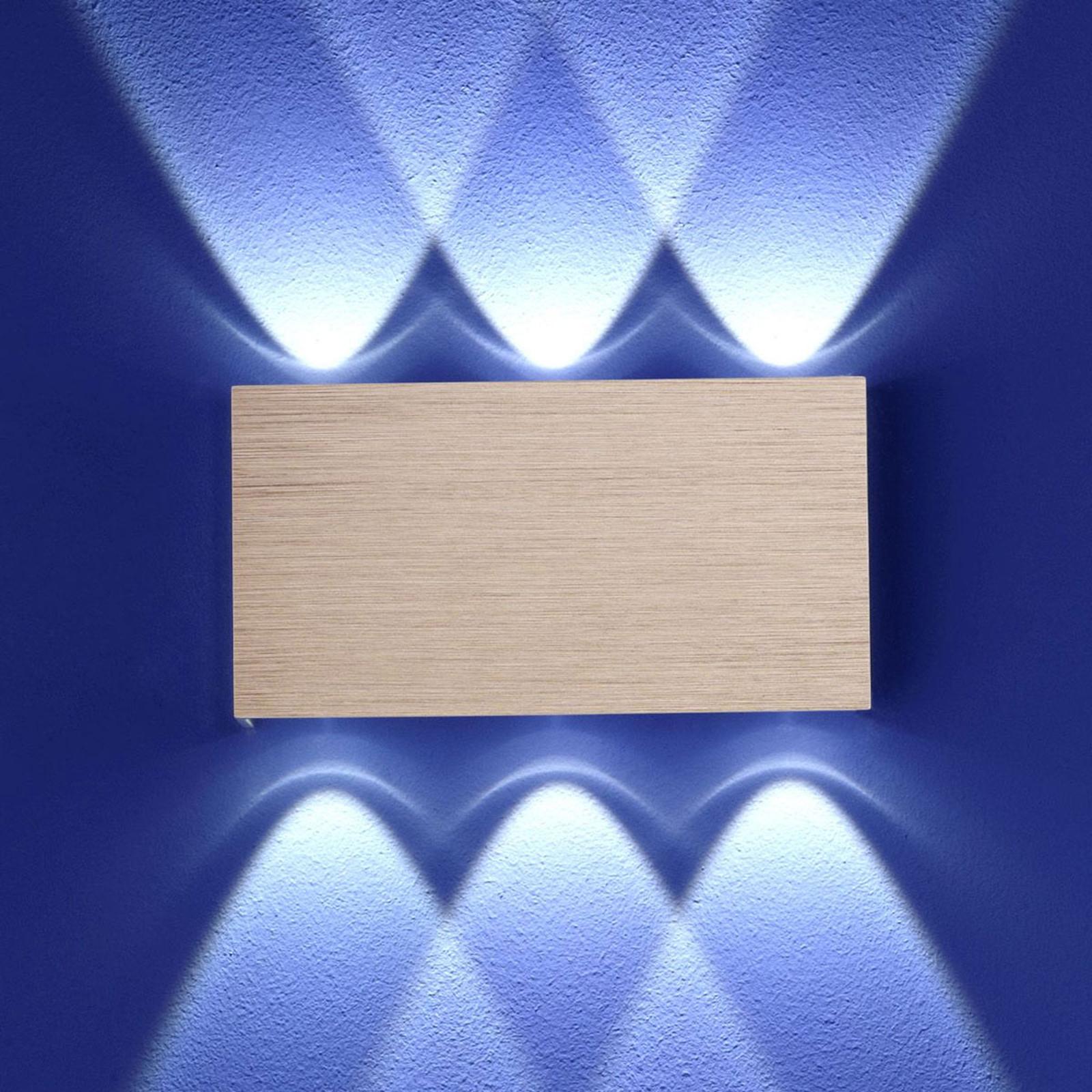 B-Leuchten Stream applique LED or rose
