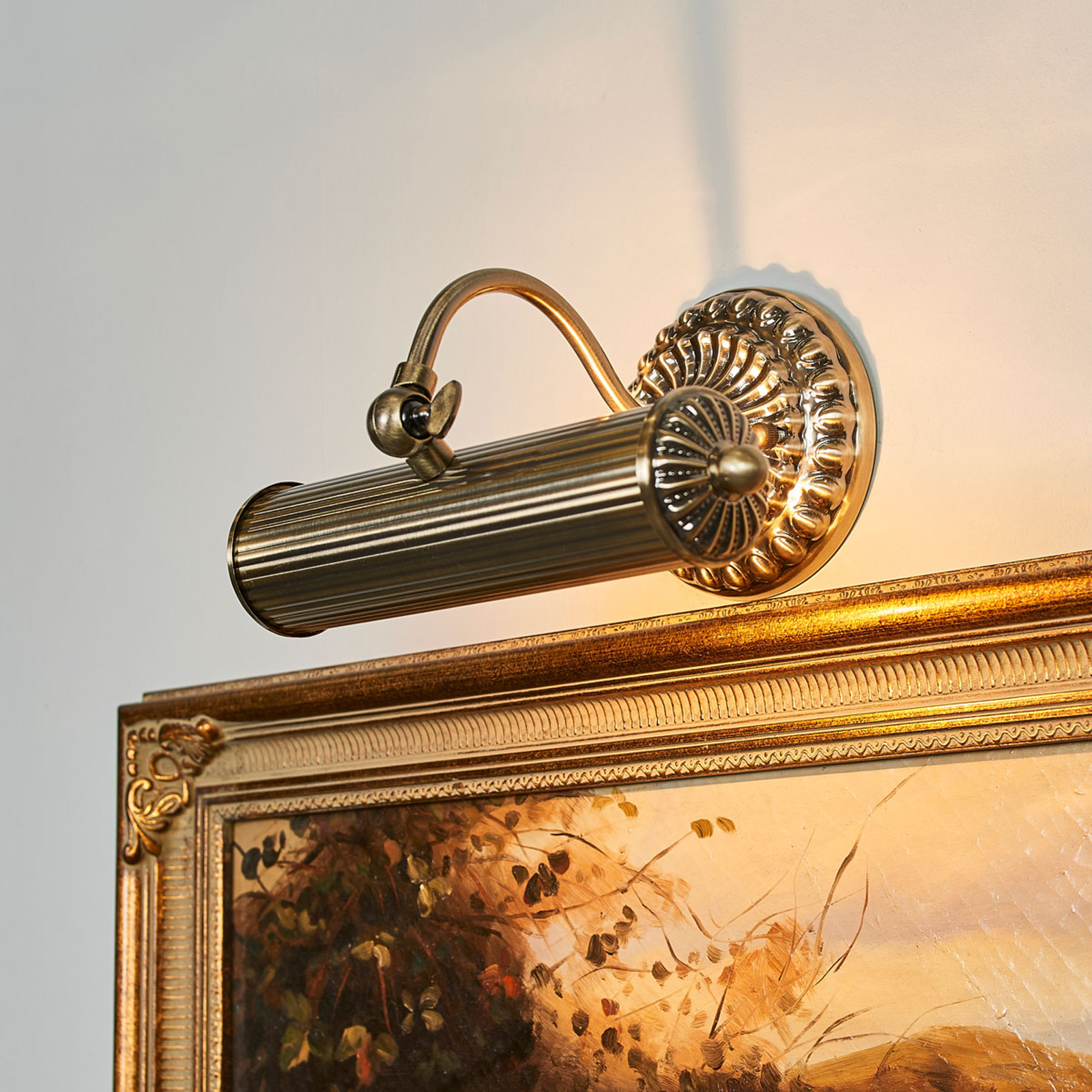 Antique-looking picture light Joely, antique brass_9639092_1