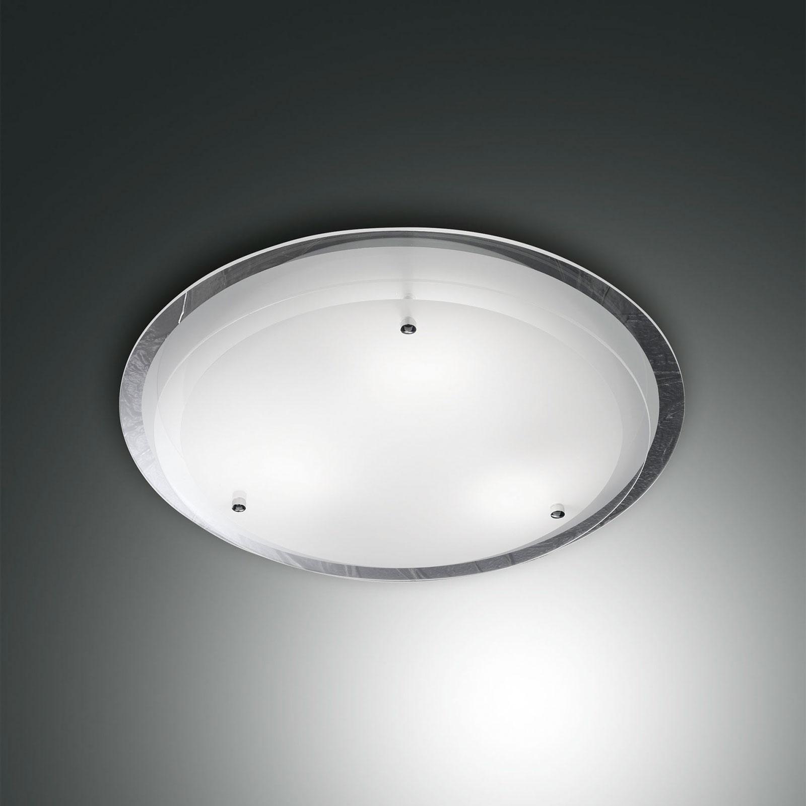 Ponadczasowa szklana lampa sufitowa Hill śr. 40 cm