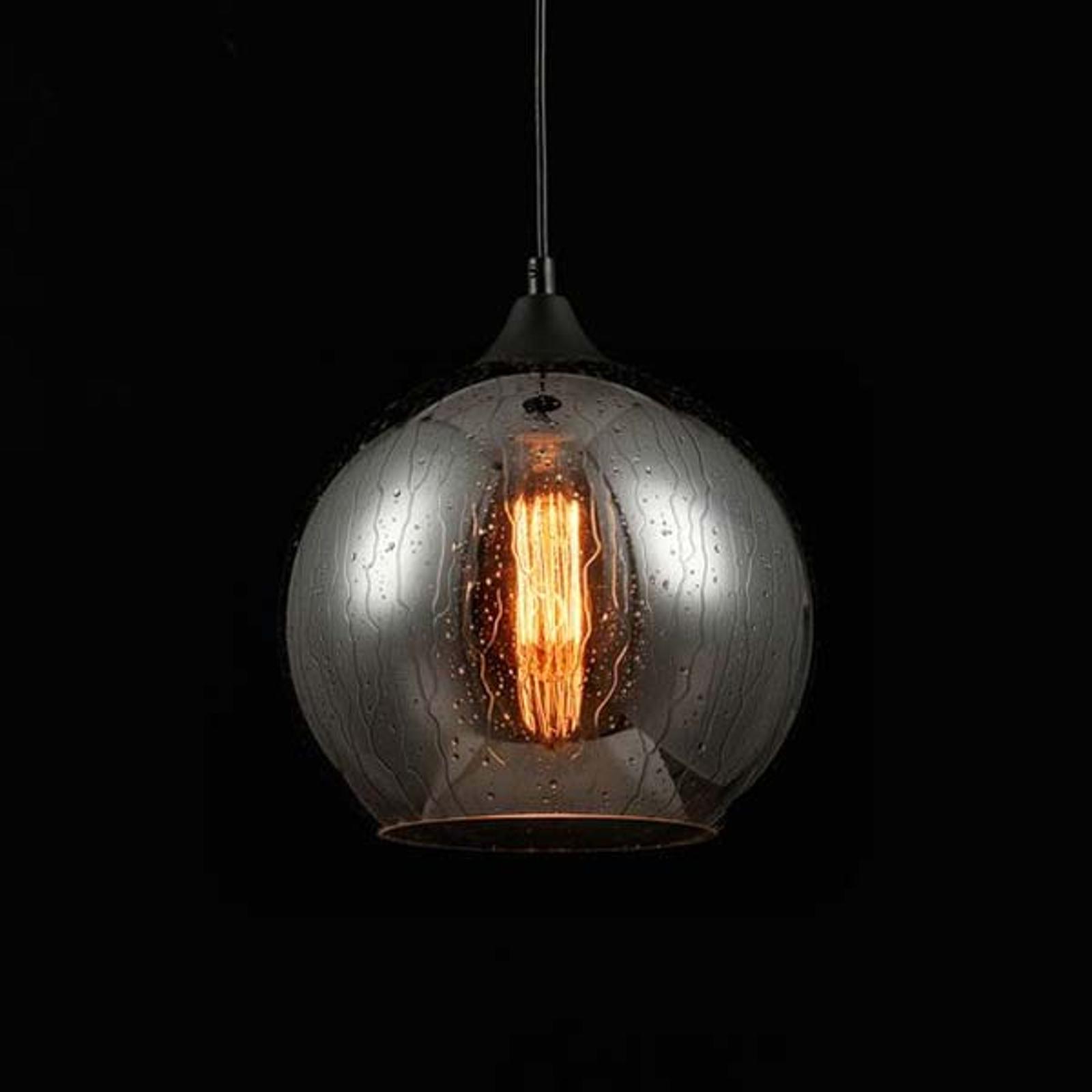 Glas-hanglamp bergen met regeneffect Ø 25cm