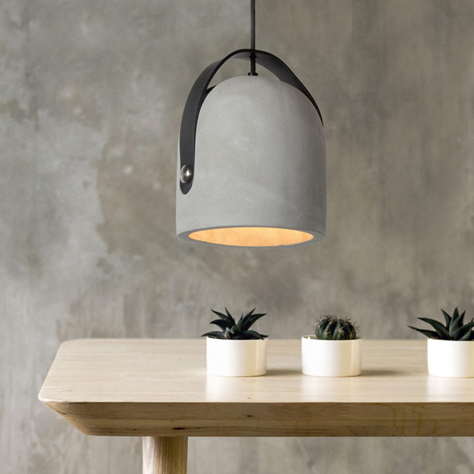 Modna betonowa lampa wisząca Copain