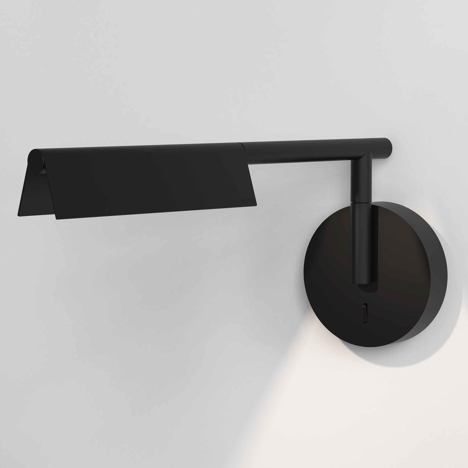 Astro Fold applique LED interrupteur noire mate