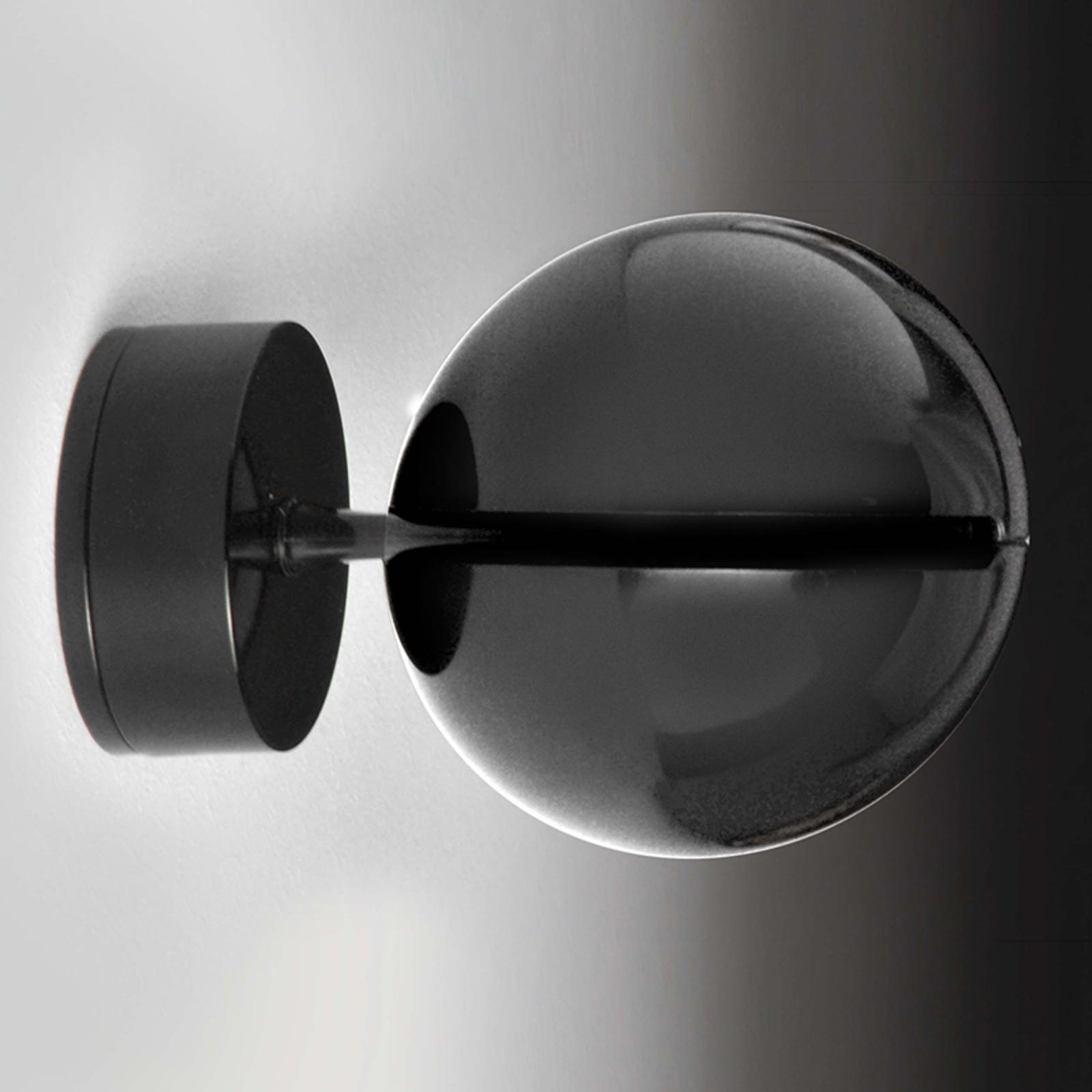 Milan Bo-La Wandstrahler, runde Halterung, schwarz