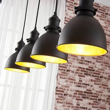 Jasminka - hanglamp met 4 lampen, zwart-goud