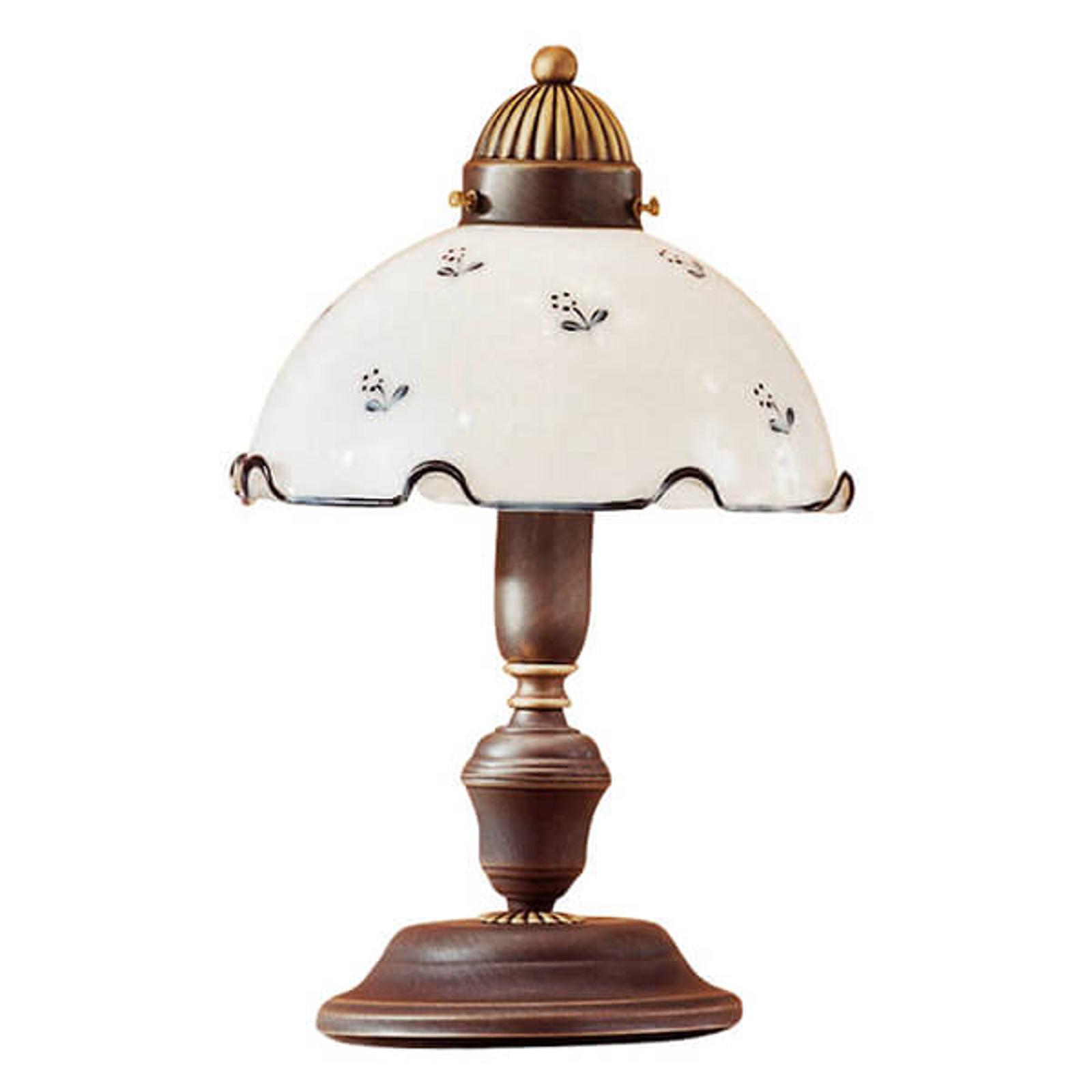 Lampe à poser décorative Nonna blanc bleu