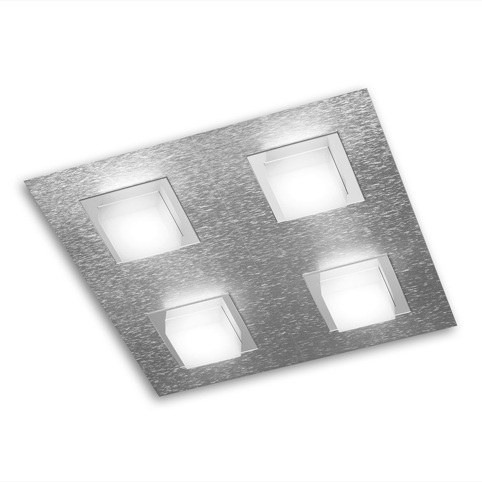 GROSSMANN Basic lampa sufitowa LED 4-pkt aluminium